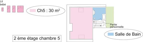 Chambre orange du gîte et chambres d'hôtes de Lasgorceix