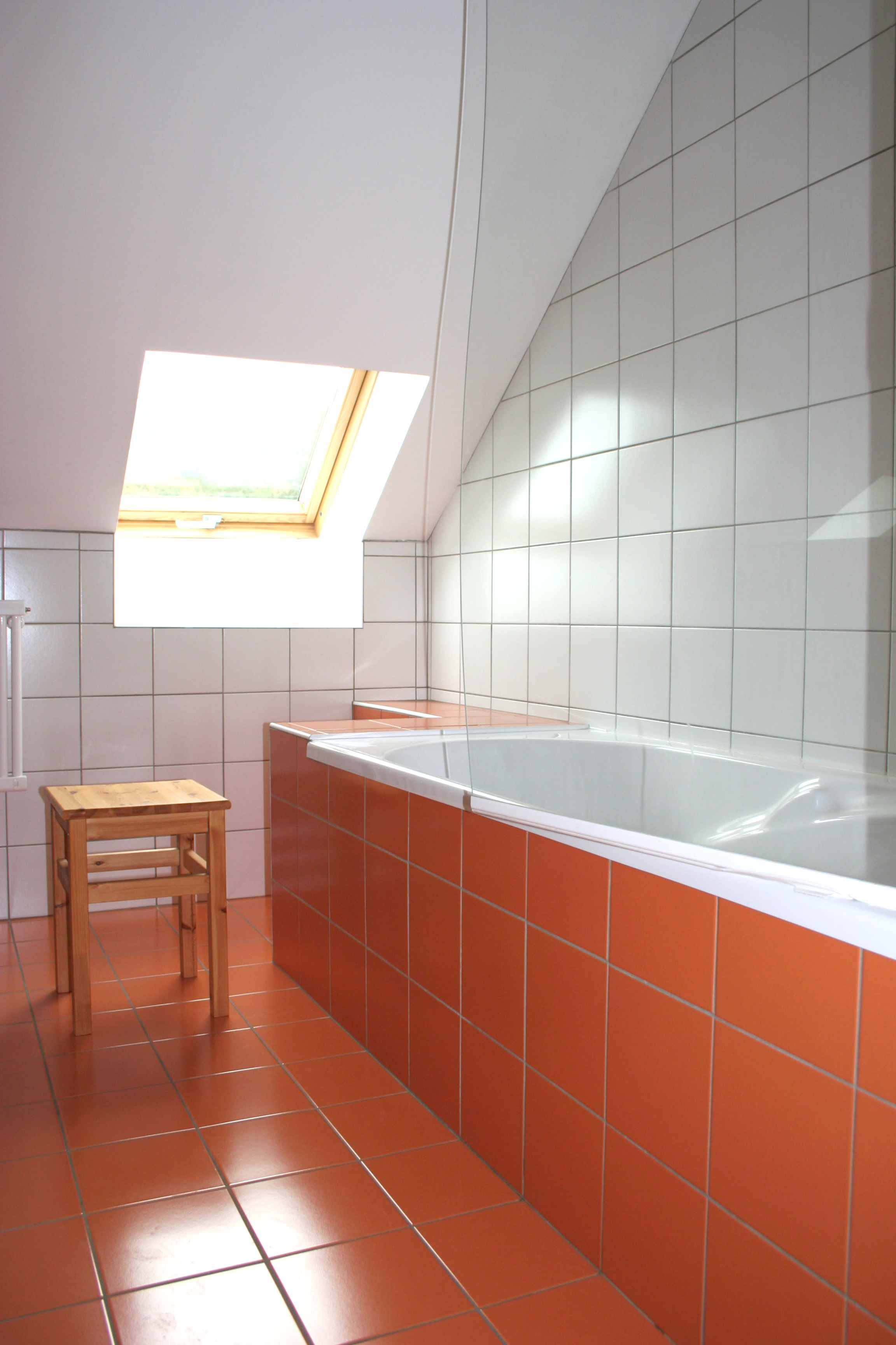 Chambre orange orange room for Salle bain orange
