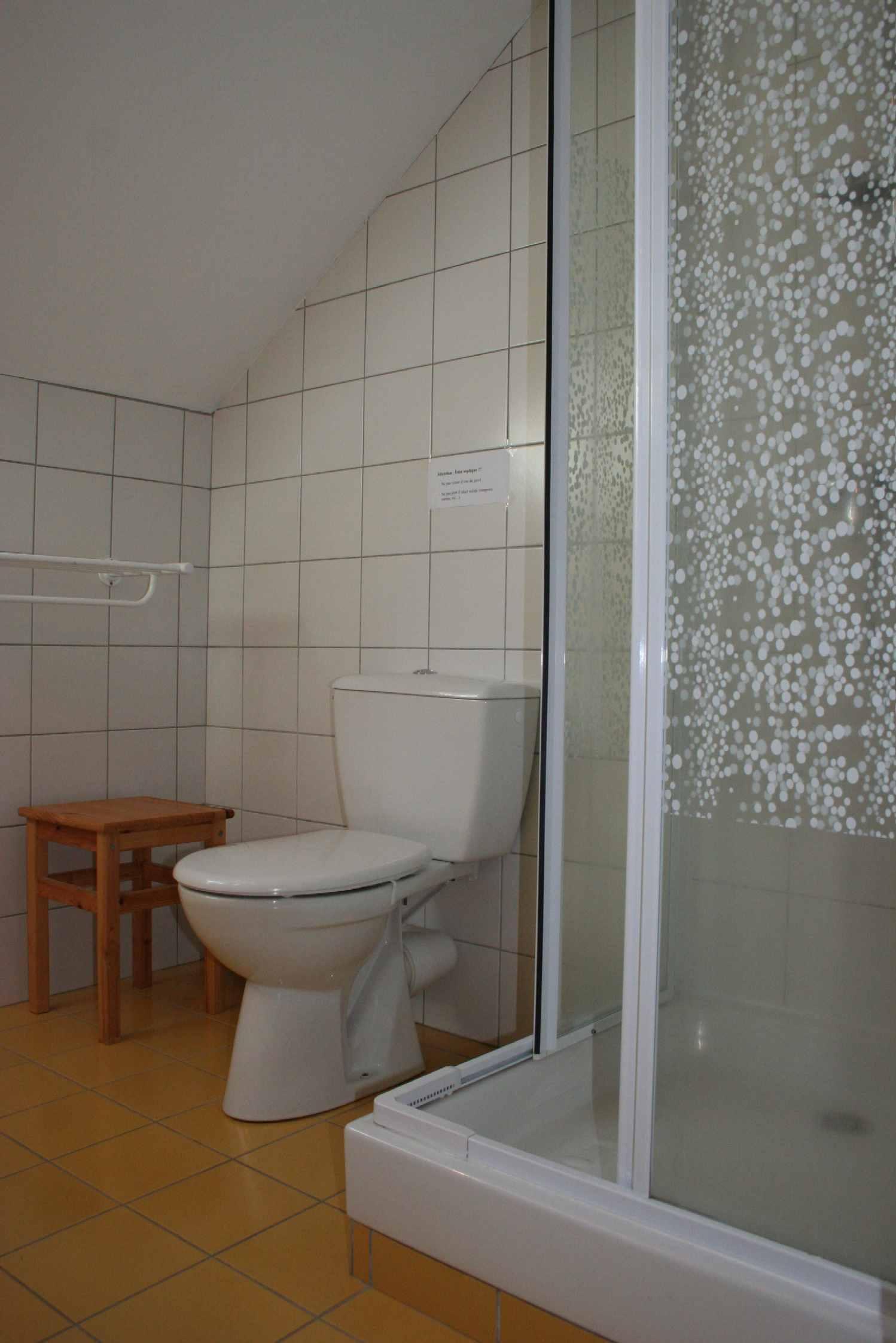 Salle d eau jaune